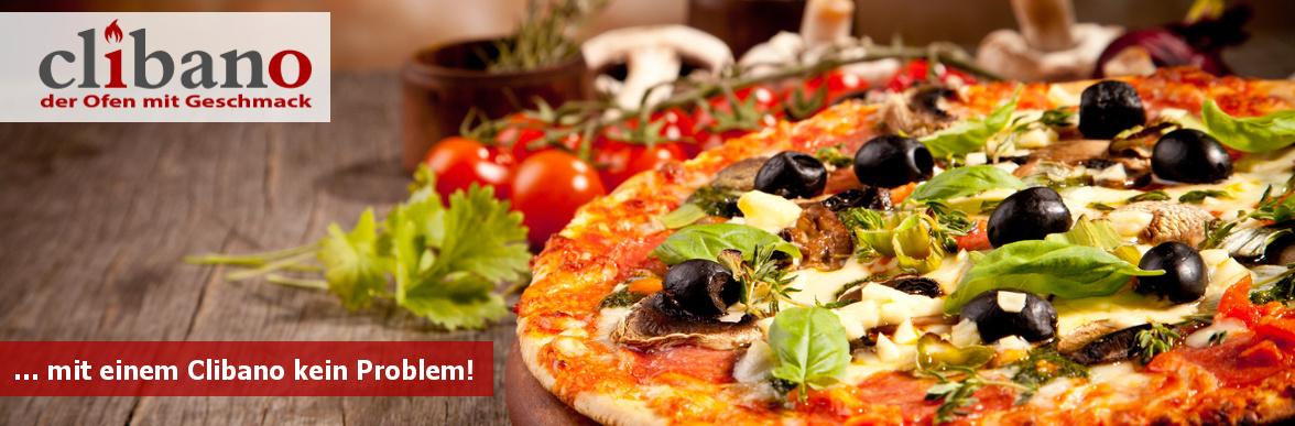 Clibano Holzbackofen Pizza kein Problem