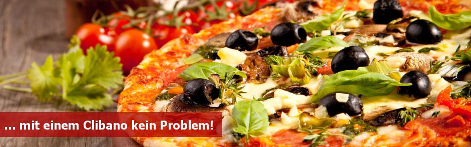 Clibano Holzbackofen Pizza